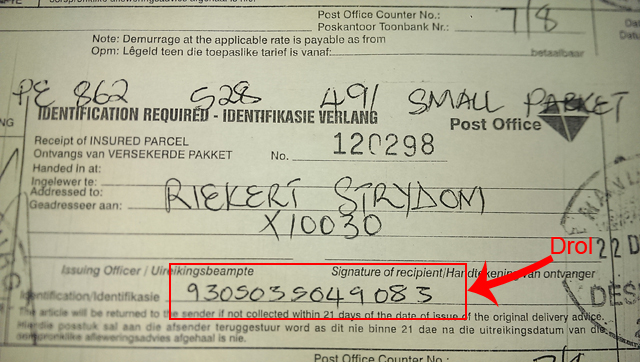 Stolen package at post office - Post office track trace ...
